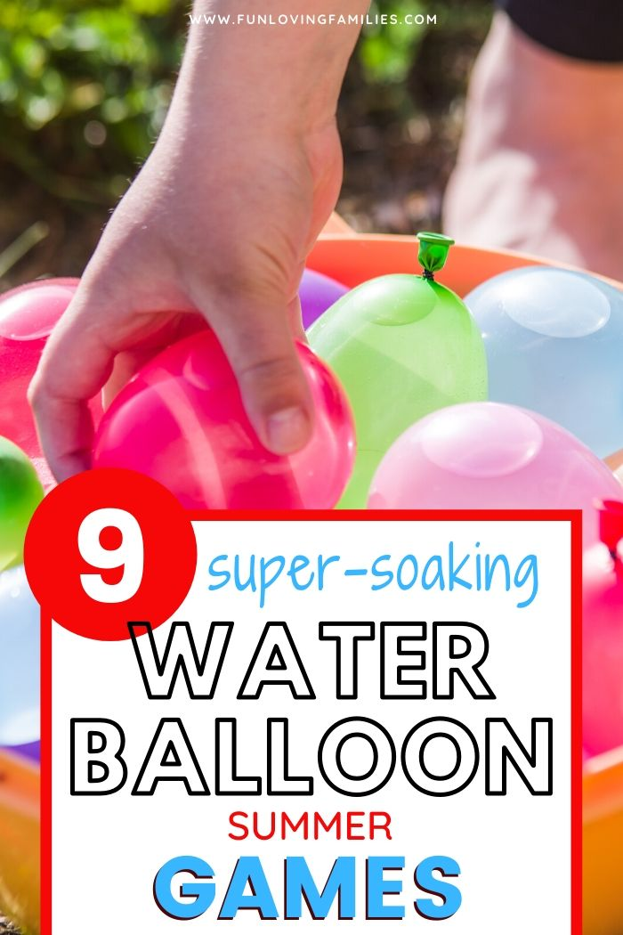 bucket of water balloons for water balloon games