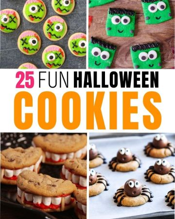 fun halloween cookies with 4 cookie ideas