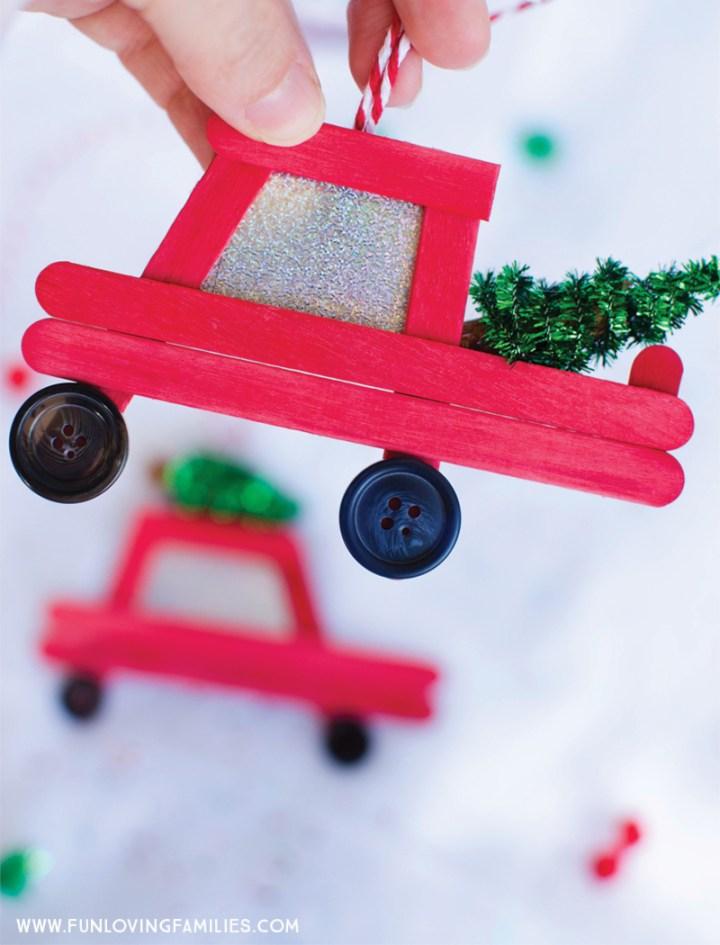 popsicle truck homemade Christmas ornament