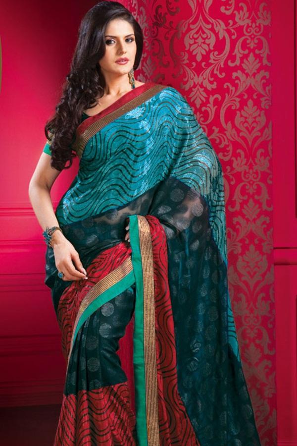 zarine-khan-glorious-saree-collection- (1)