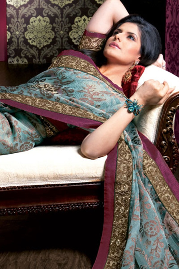zarine-khan-glorious-saree-collection- (13)