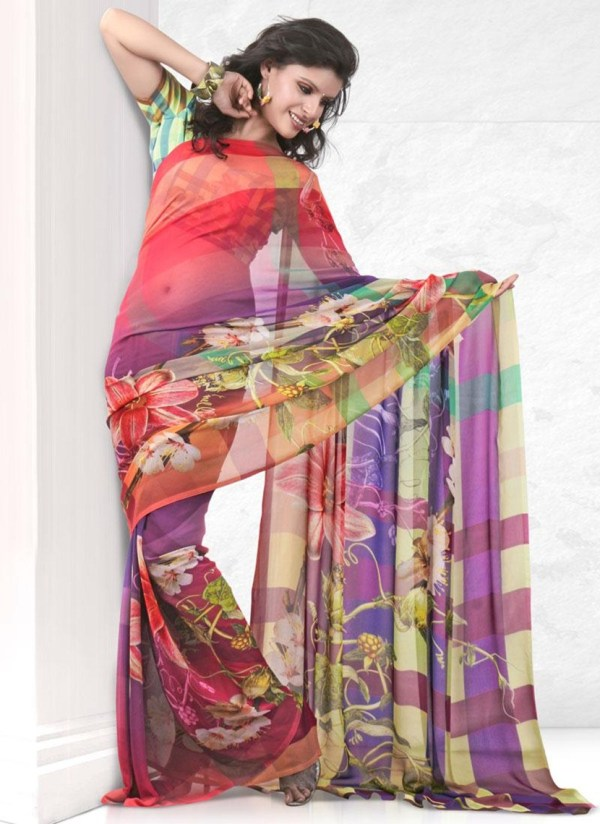 printed-saree-designs-for-summer- (13)
