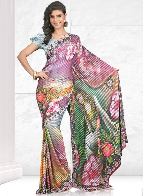 printed-saree-designs-for-summer- (15)