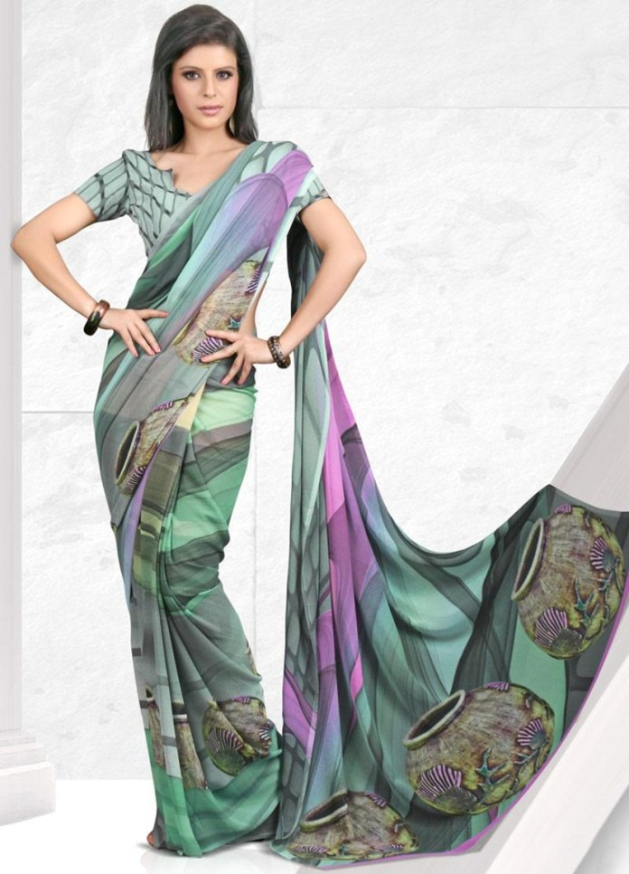 printed-saree-designs-for-summer- (16)
