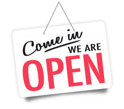 Come On In We Are Open