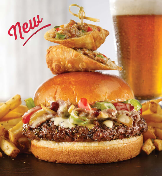 TGI Friday's Has Another NEW LOADED BURGER – The Philly Cheesesteak Burger