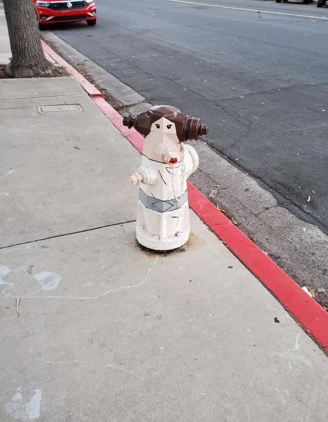 Daily Pic – Princess Leia Fire Hydrant