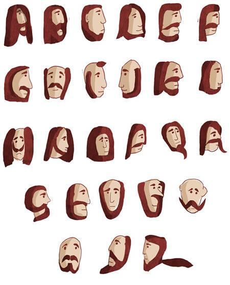 Alphabet beards