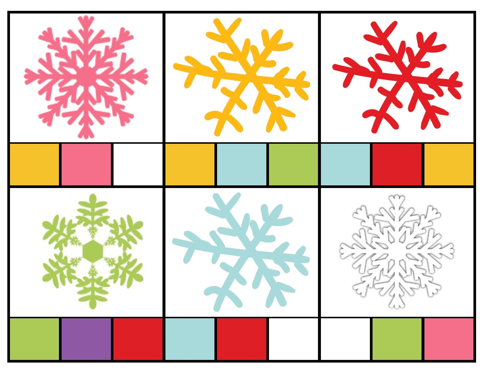 Snowflake Color Activities Preschool And Homeschool