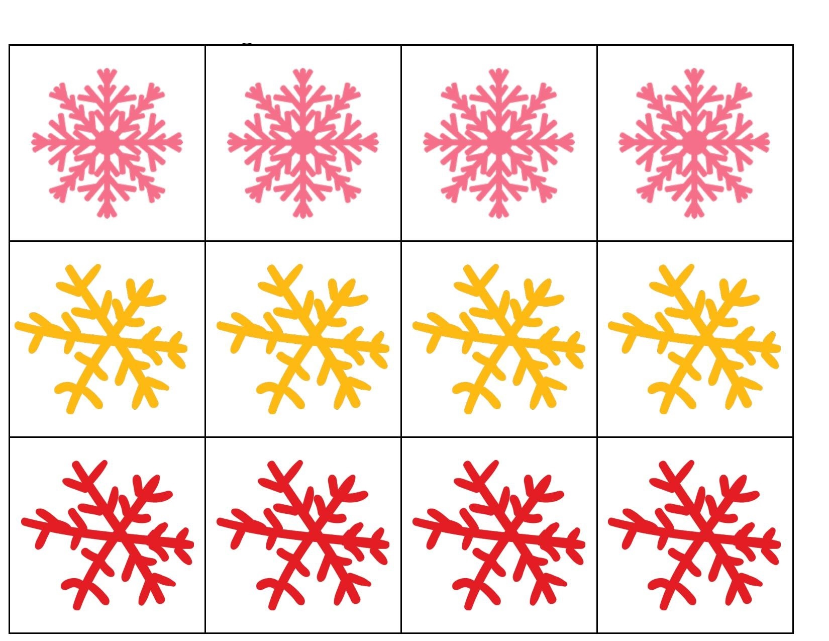 Snowflake Pattern Activities Preschool And Homeschool
