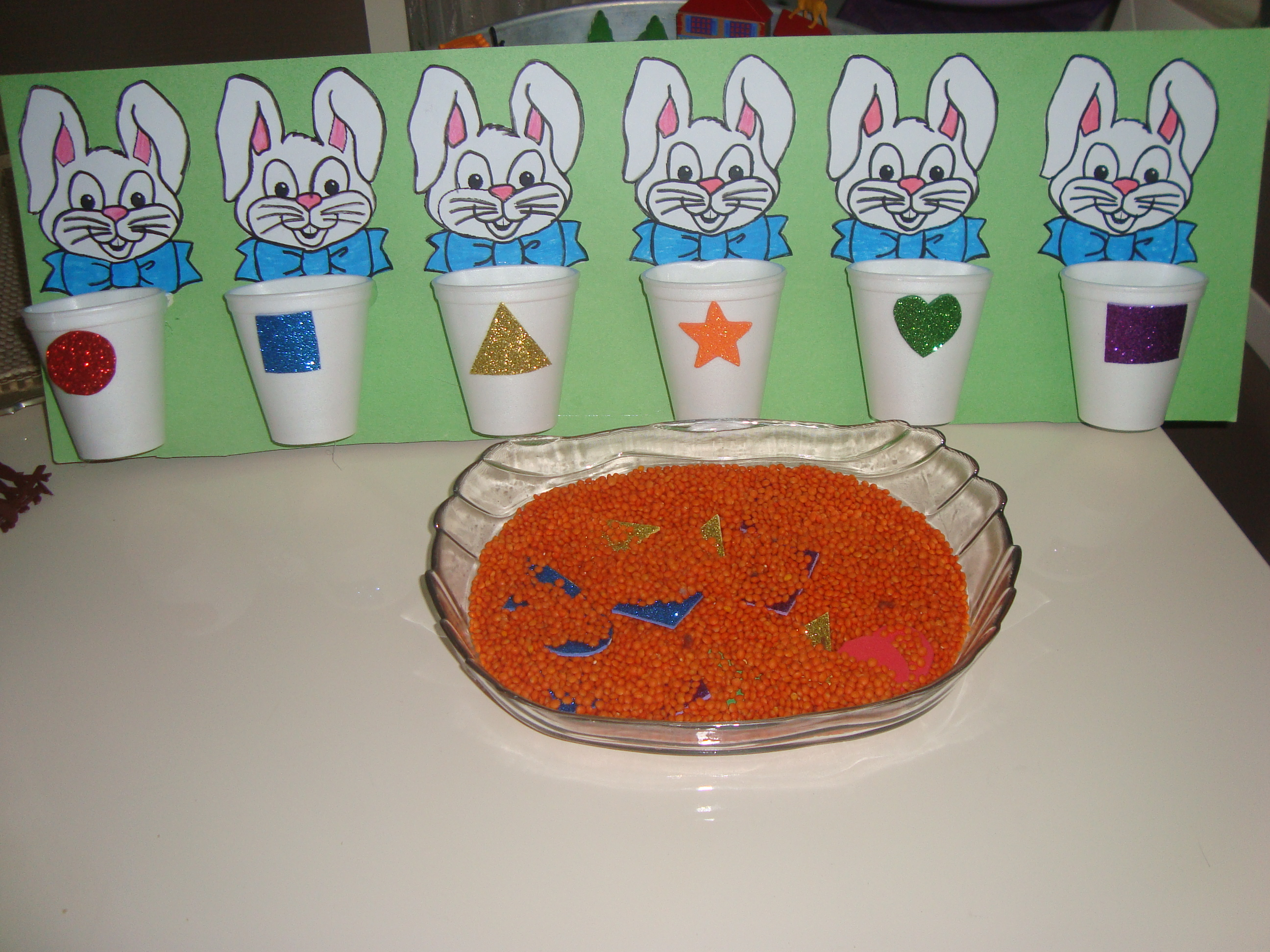 Bunny Shapes Sorting Activities 2 Preschool And Homeschool