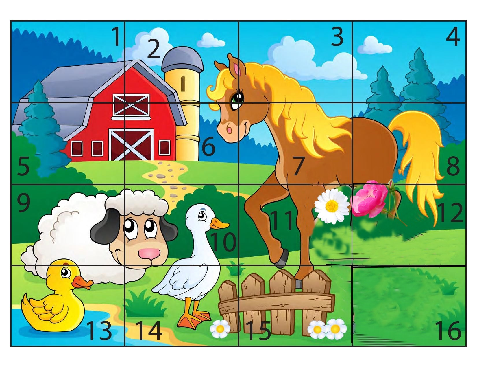 Farm Animal Puzzles Preschool And Homeschool