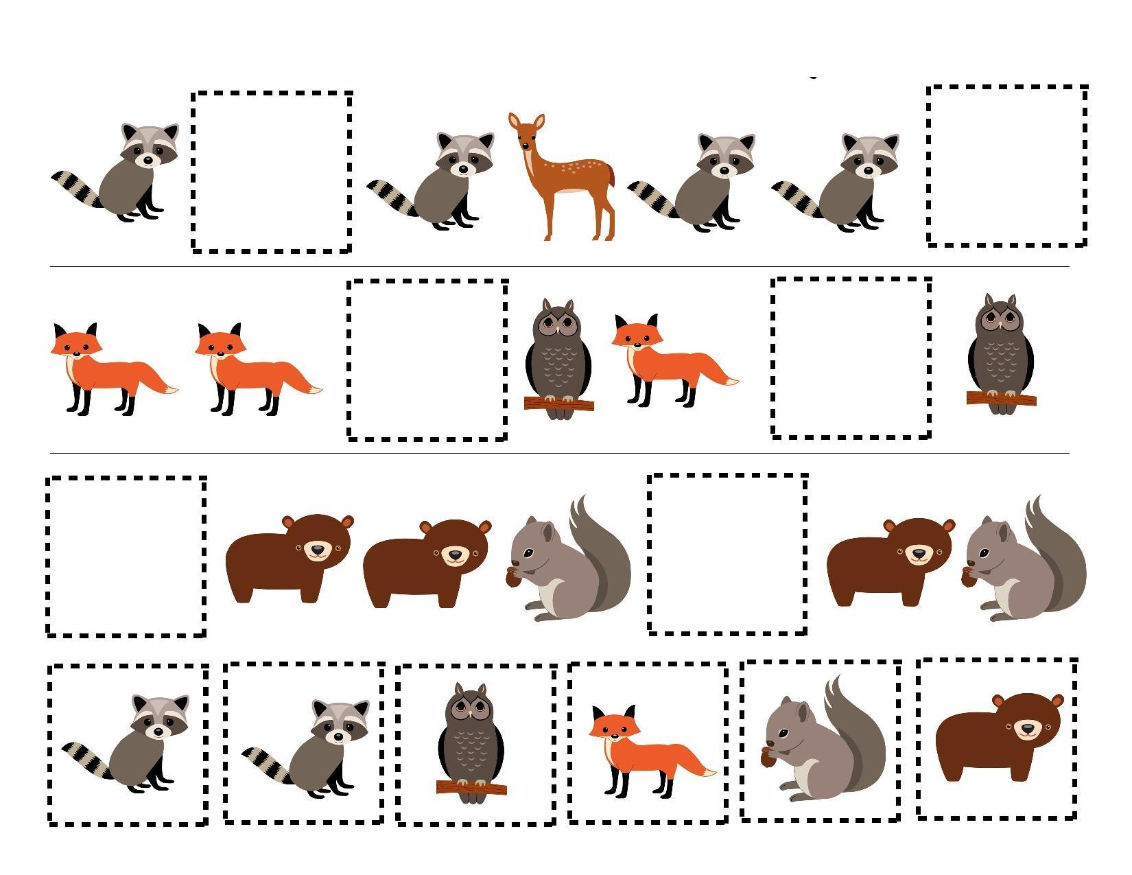 Forest Animal Worksheet For Preschool