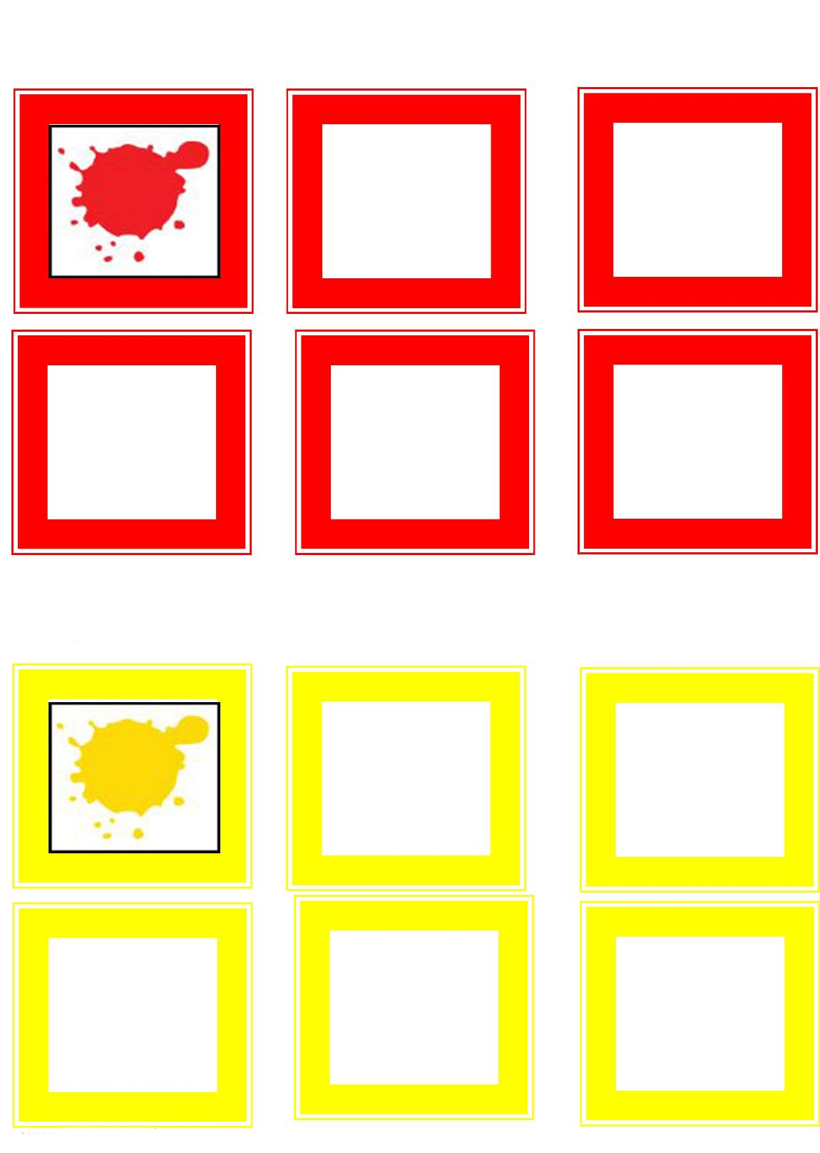 Learning Color Activities Yellow Andred Preschool And