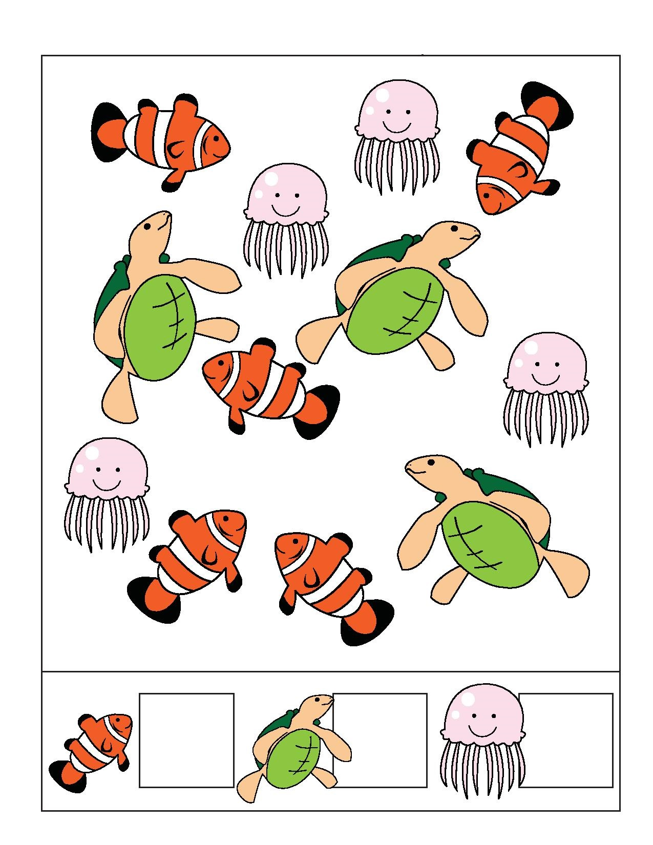 Ocean Animals Counting Preschool And Homeschool