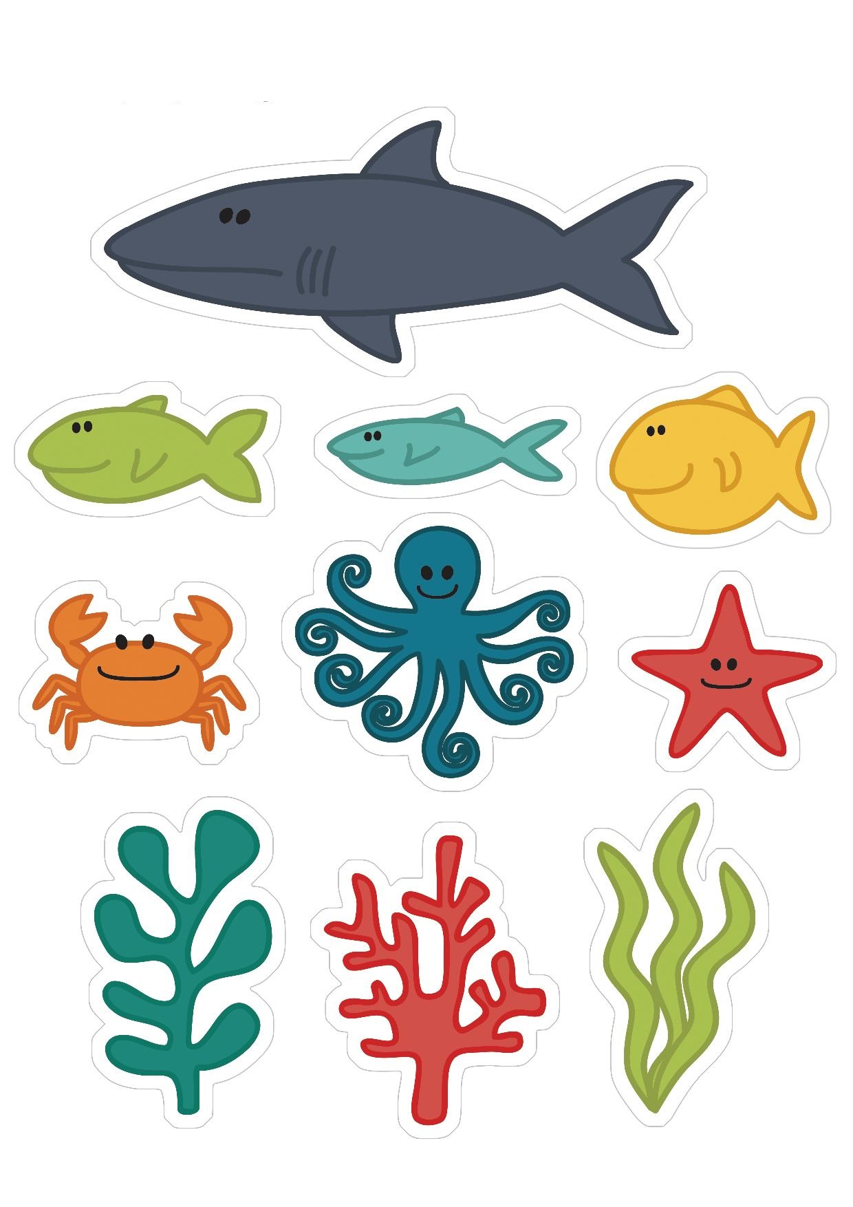 Ocean Animals Cutting Activity Preschool And Homeschool