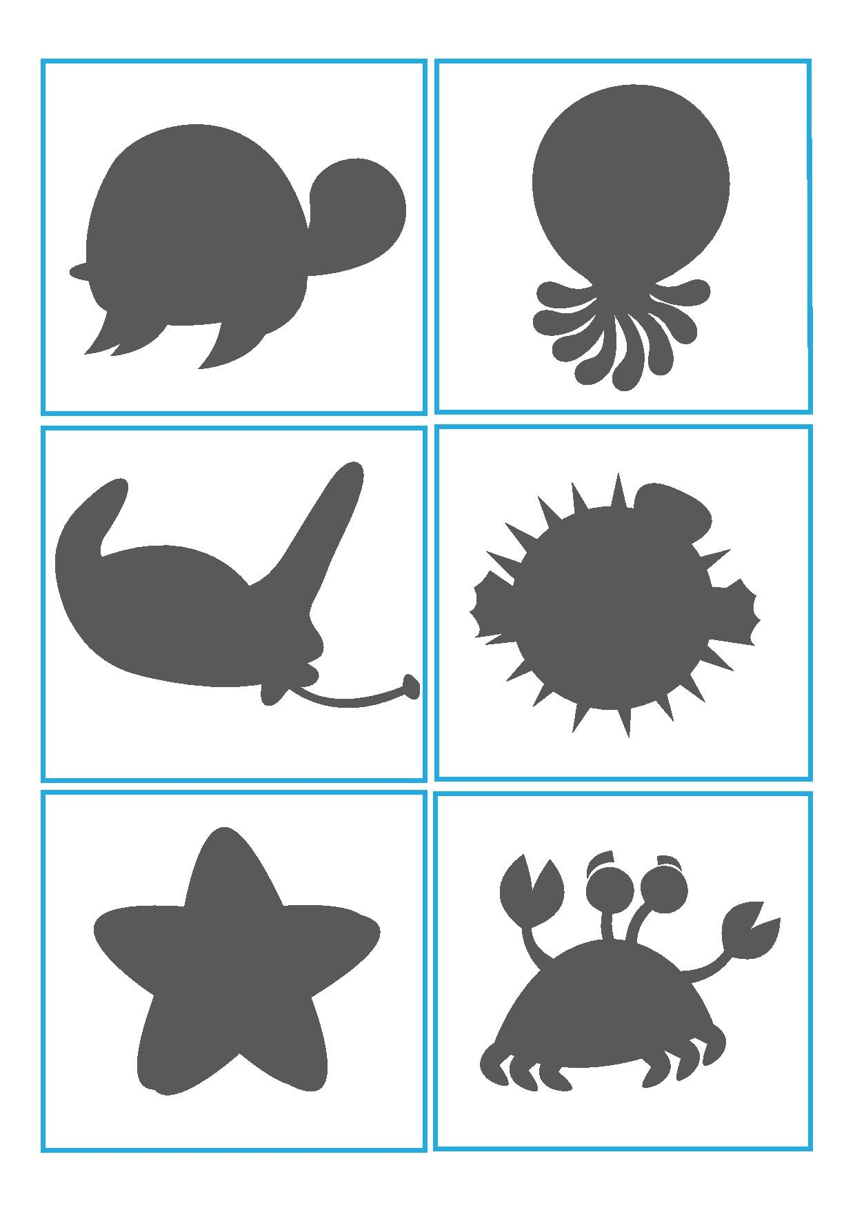 Ocean Animals Shadow Matching Preschool And Homeschool