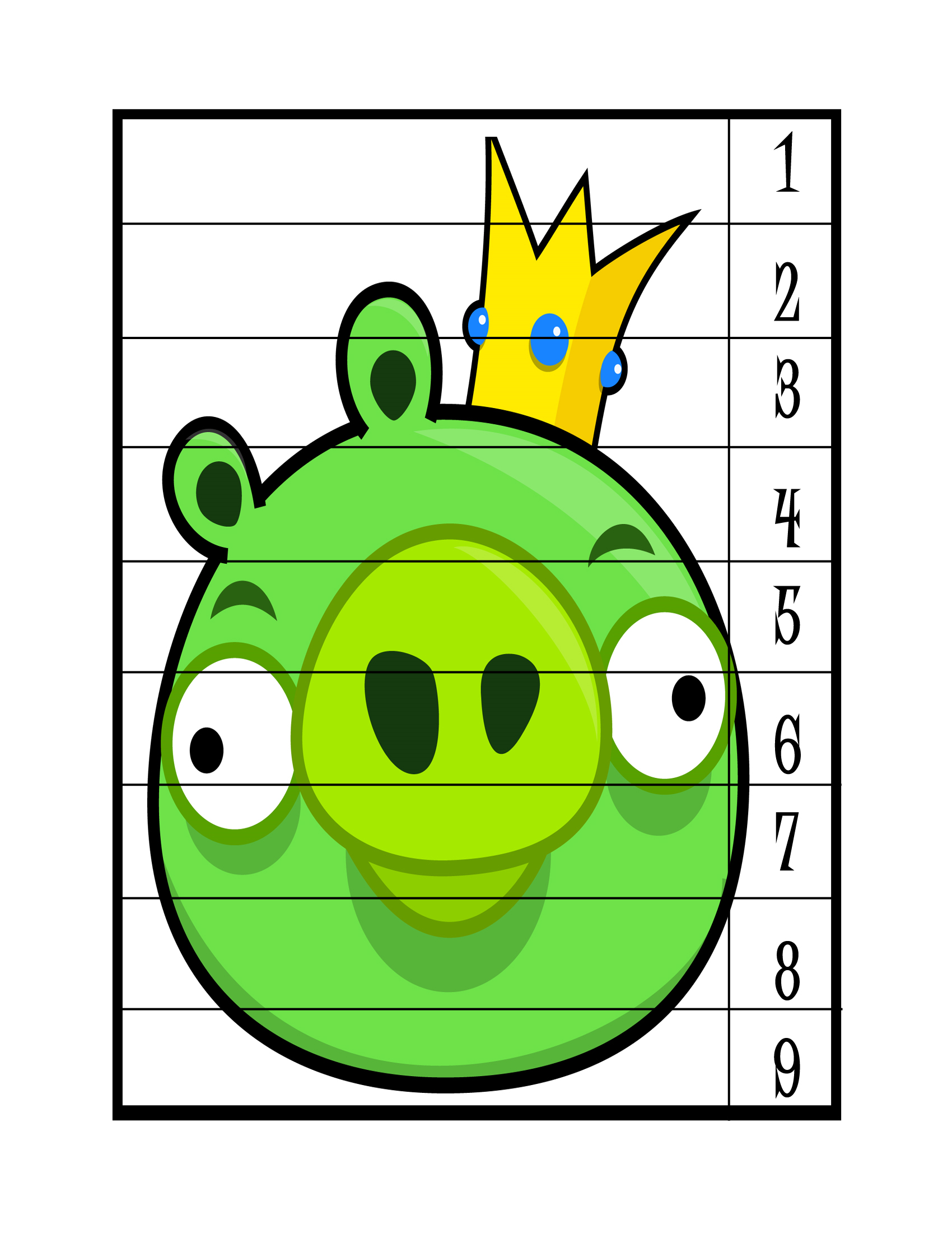 Angry Birds Number Puzzle Preschool And Homeschool