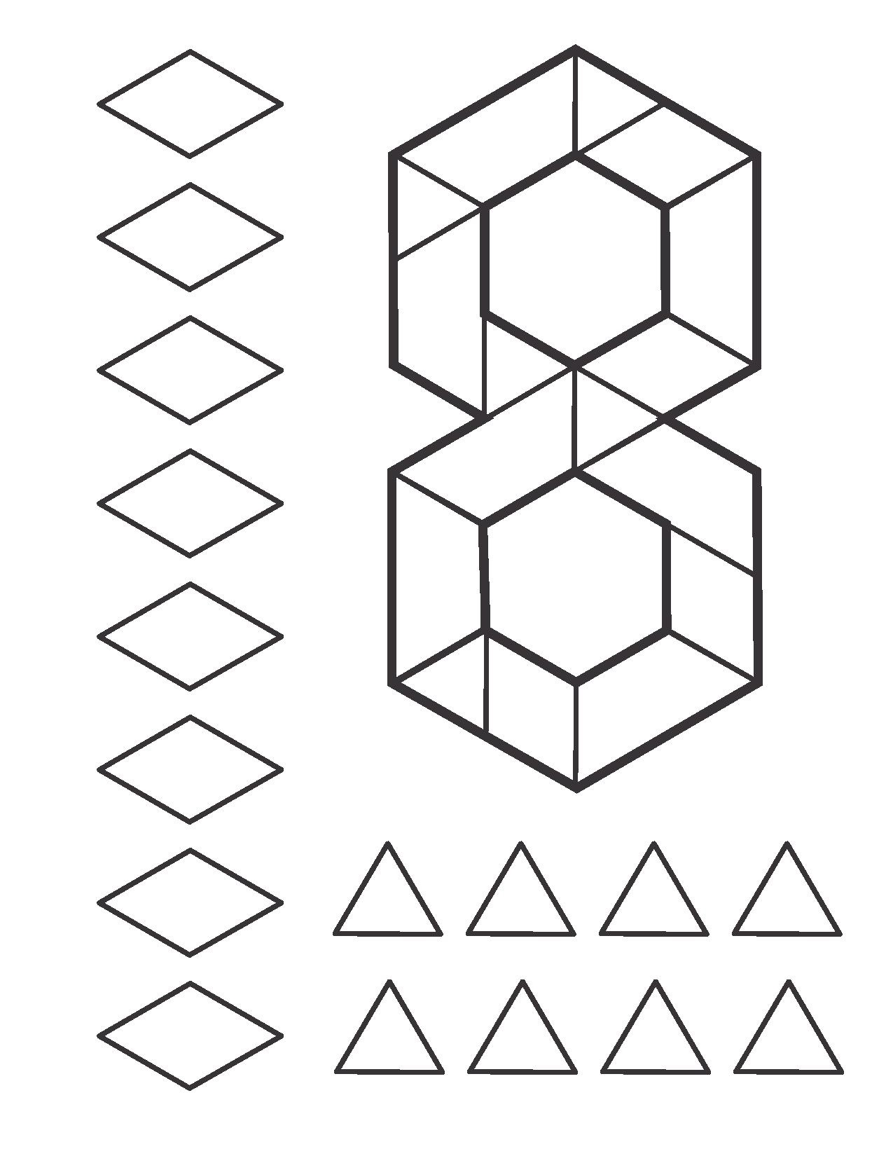 Number Pattern Block Cards For Kids 11 Preschool And