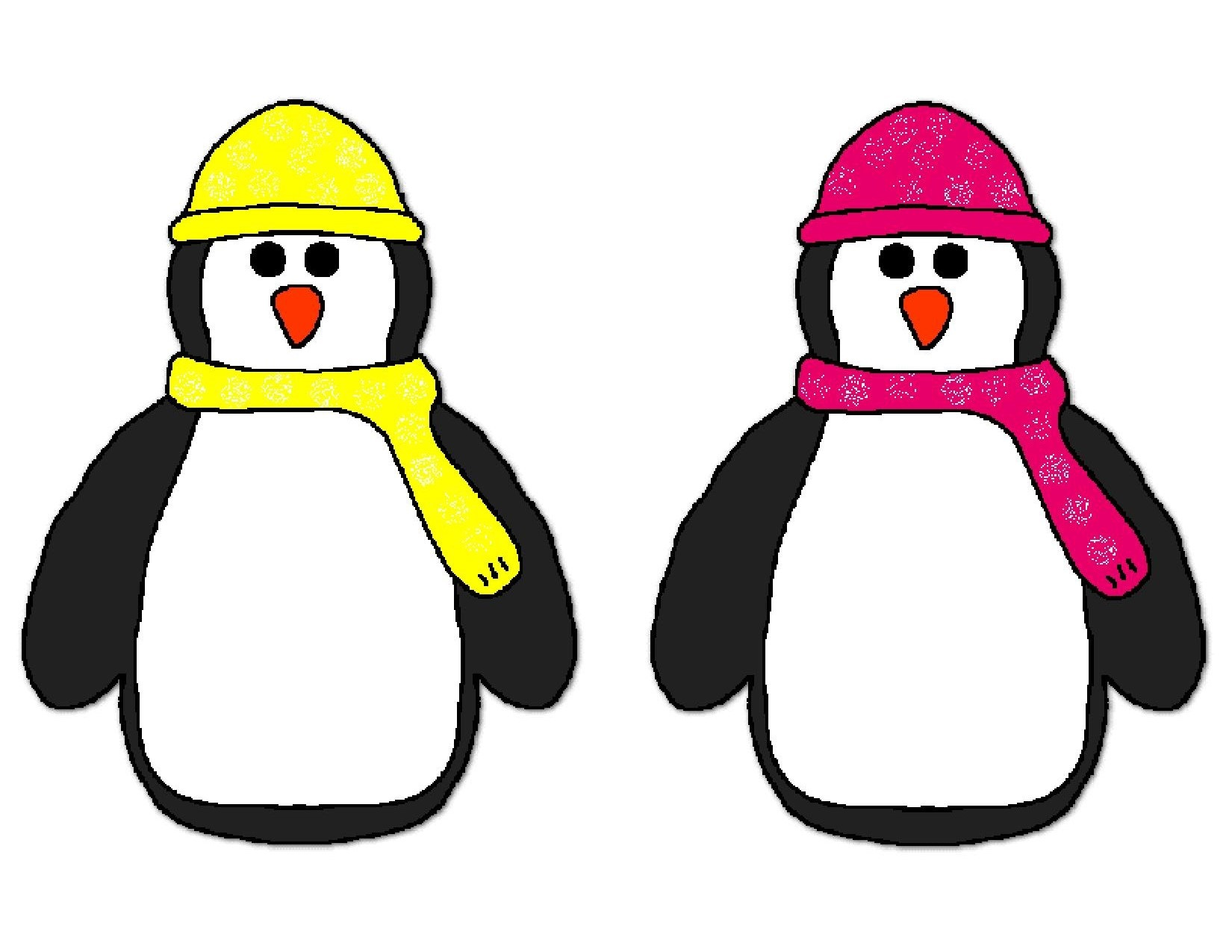 Colorful Penguins For Kids Preschool And Homeschool