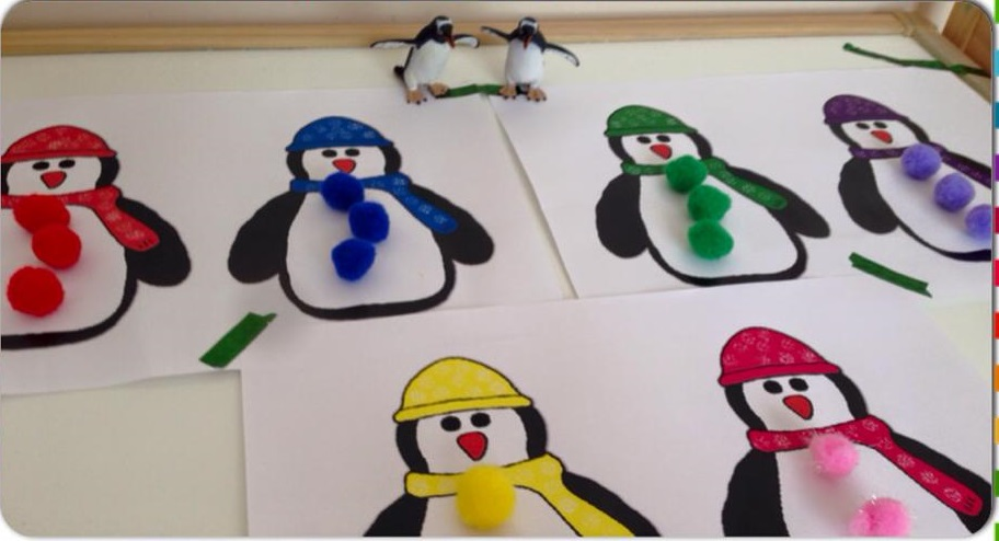 Penguin Color Match Card Activity For Kids Preschool And