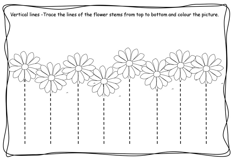 vertical tracing worksheets vertical tracing line sheets 1. crafts ...