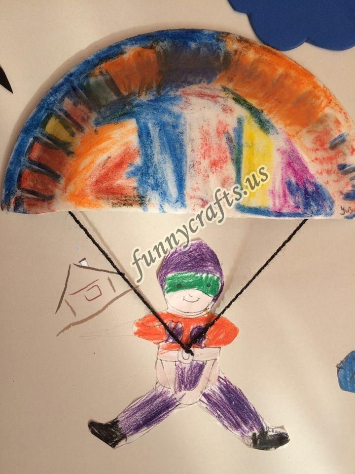 Paper Plate Parachute Craft For Preschoolers 3