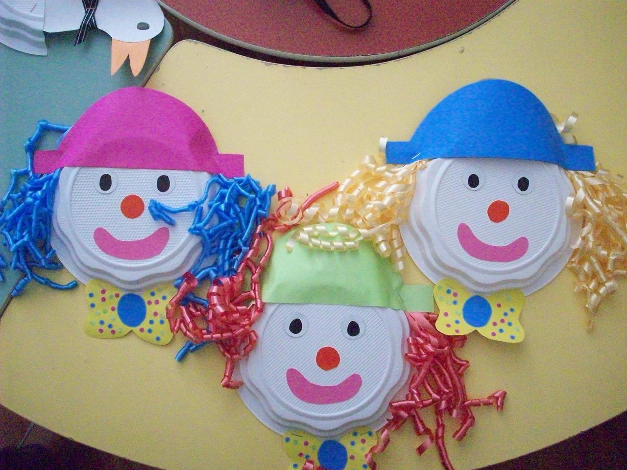 Plate Clown Craft Ideas Preschool And Homeschool