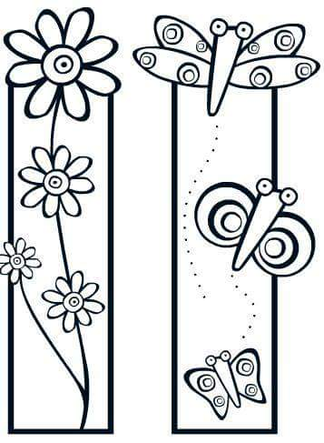 Bookmark Coloring Pages 12 Preschool And Homeschool