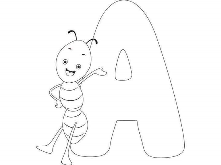 Free Printable Letter A Ant Coloring Pages For Kids