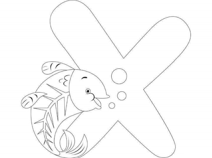 Free Printable Letter X Coloring Pages For Kids