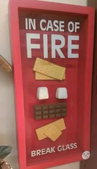 In case of fire, break glass