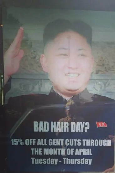 North Korea - bad hair day?