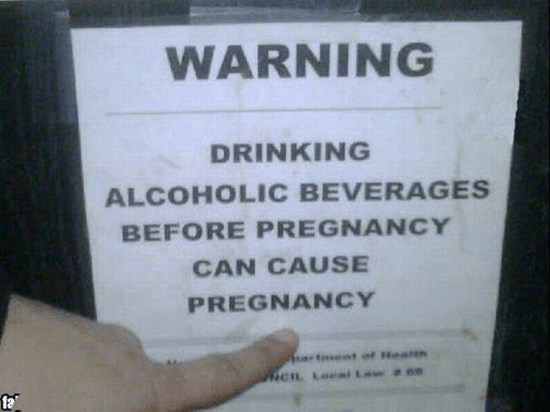 Drinking alcoholic beverages before pregnancy can cause pregnancy