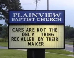 Cars are not the only thing recalled by their maker