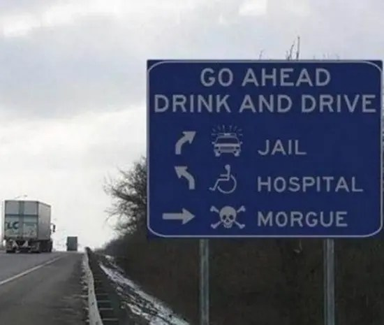 Go ahead and drink and drive - here are the directions
