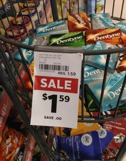 Sale tag that's really no sale