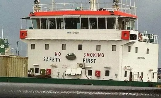 No safety, smoking first sign