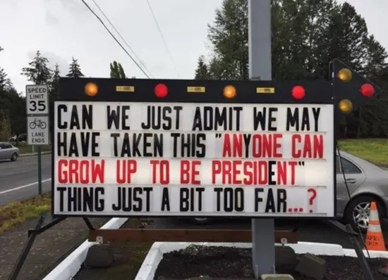 Anyone can grow up to be President