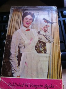 An ancient copy of 'Mary Poppins.' My cousin coloured her teeth in pink.