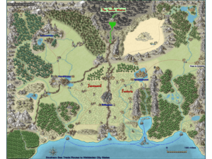 The World of Khalkaraeon by Kalthorine.  Used with permission.