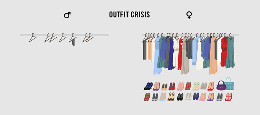 Strange & Weird Facts About Life - Outfit crisis for men and women