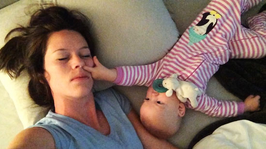 This Mom Tries to Sleep With Her Baby, but The Baby Has Other plans…