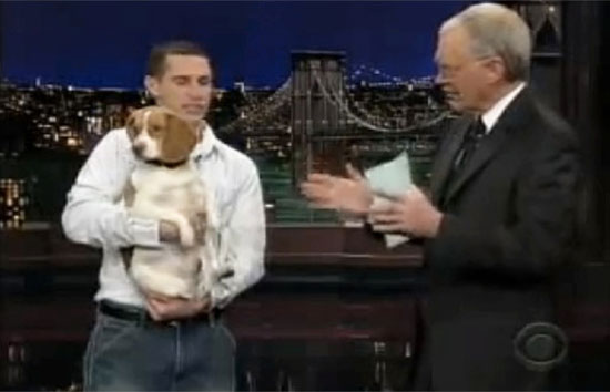 David Letterman's stupid pet trick of the day