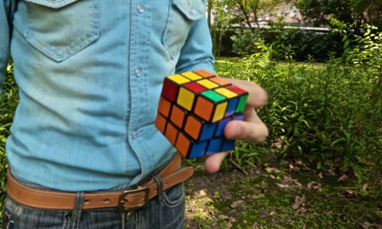 This guy solves a Rubik's cube in the most bizarre way imaginable. This will blow your mind!