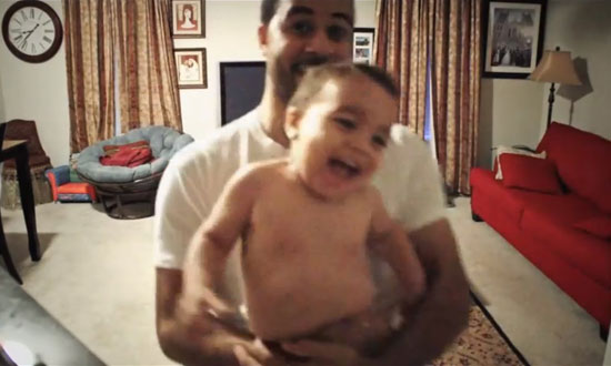 This baby's mom left him alone with his dad and this is what happened next!