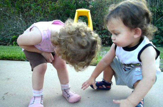 You won't believe what this little guy did to comfort his twin sister when she got hurt!