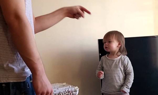 When this daddy and little daughter get into an argument, it's too cute to handle!