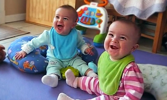 Adorable twins hear daddy's voice when he gets home, and their reaction is just PRICELESS!