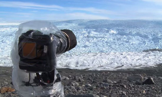 This camera set up in Greenland recorded something breathtaking yet terrifying
